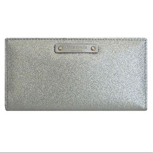 Kate Spade New York Silver Stacy Haven Wallet
